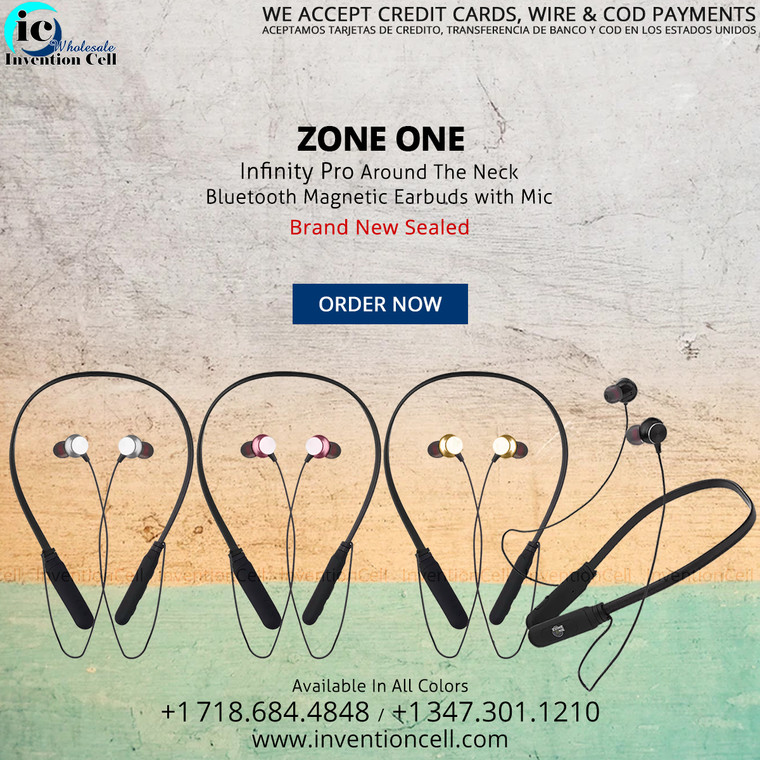 Infinity Pro Bluetooth Earbuds with Mic (New)