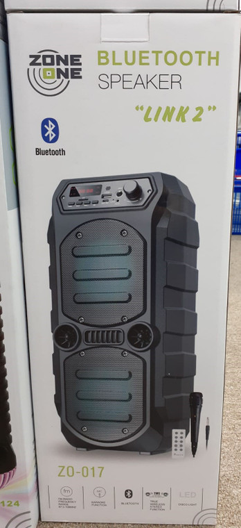 Bluetooth Speaker (Z0-017)  Link 2 (New) Sealed (Black)