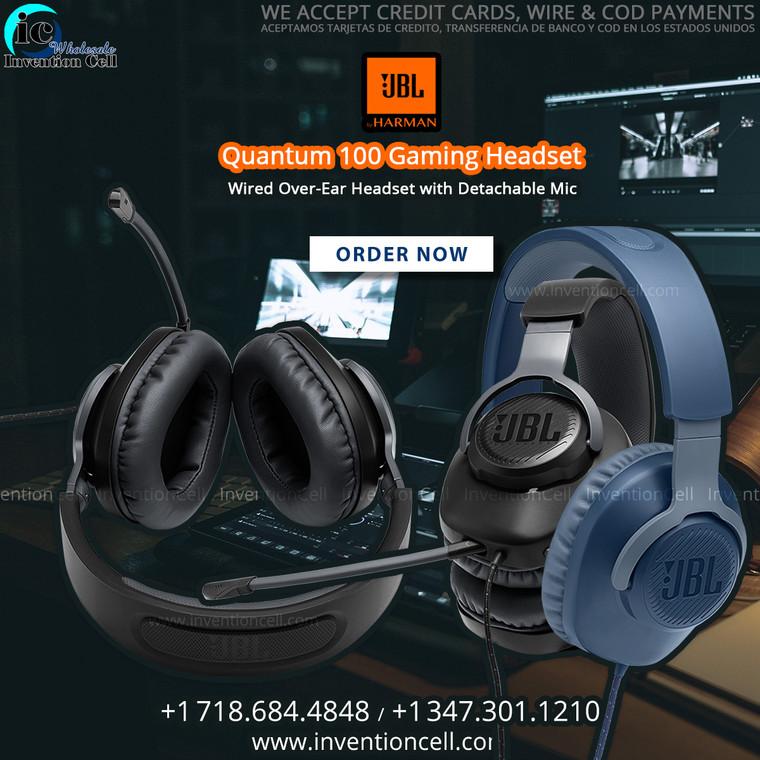 JBL HARMAN QUANTUM 100 Gaming Headset With Detachable MIC (New) Black