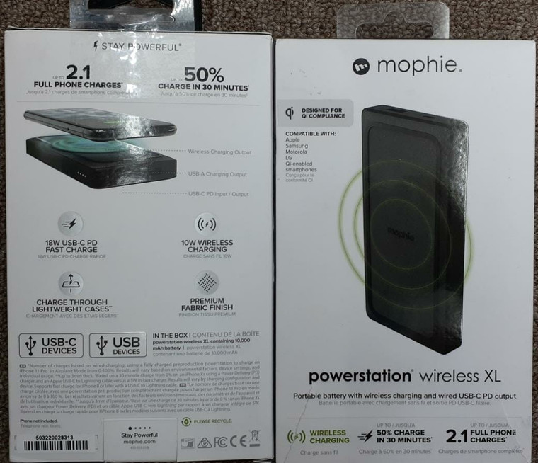 Mophie Power Station Wireless XL Power Bank (New)