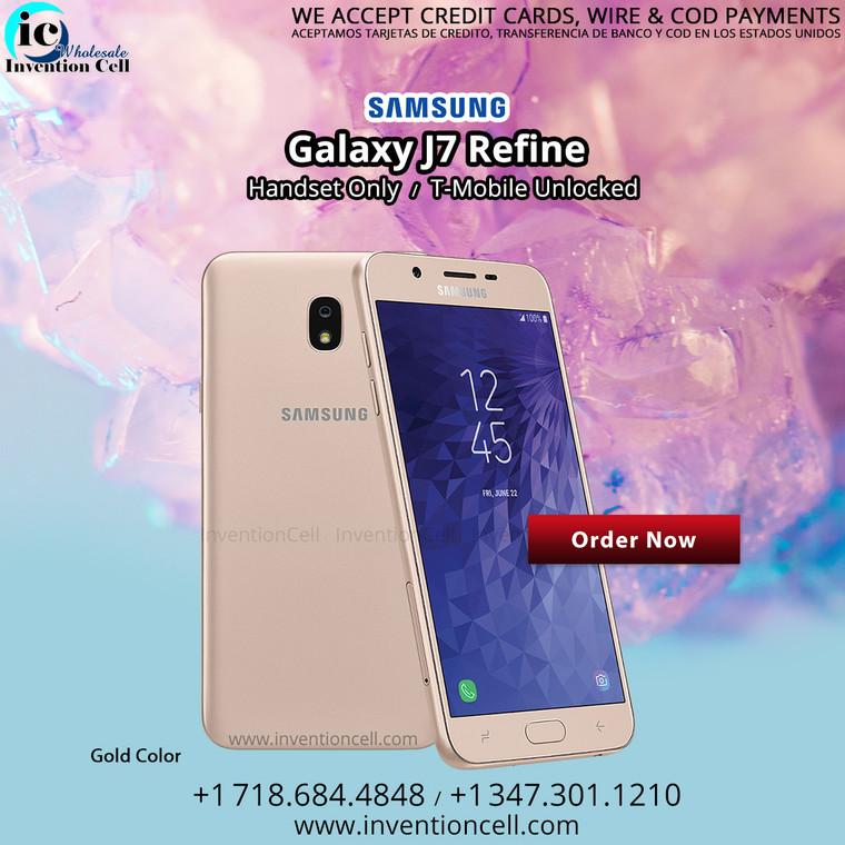 Samsung Galaxy J7 Refine 32GB, 4G Lte Unlocked (Gold) B- Grade