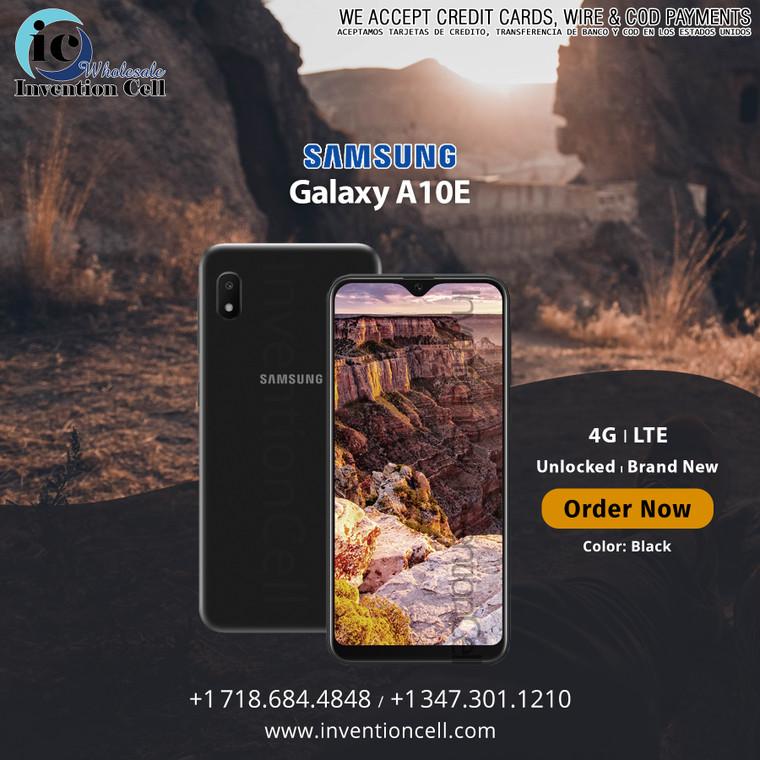Samsung Galaxy A10E 32GB, 4G Lte (B Unlocked) New (Black)