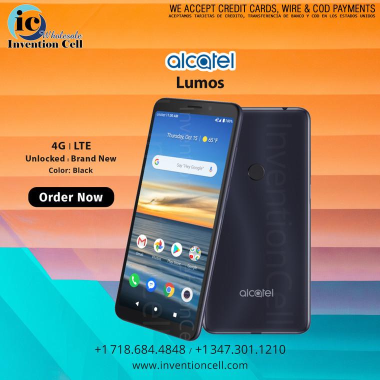 ALCATEL LUMOS 32GB up to 128GB, 4G LTE  (New) Unlocked (Black)