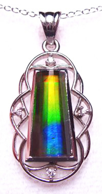 14KW Ammolite Fashion Pendant 24GP