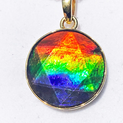 18K Ammolite Star of David Pendant  55GP