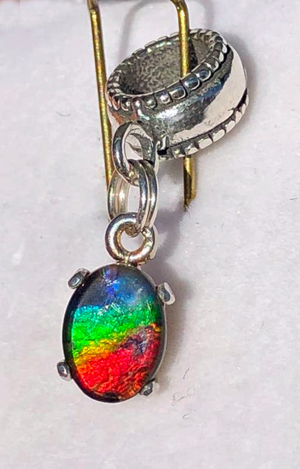Ammolite Pandora Type Charm 6PTC