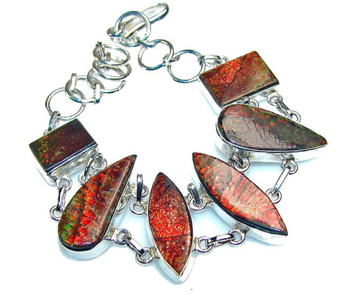 Ammolite Multi Shape Bracelet 4SLB