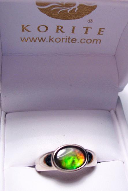 Korite Ammolite Oval Coby Ring 2KGR
