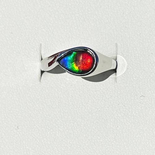 Korite Ammolite Pear Peggie Ring 5WKGR