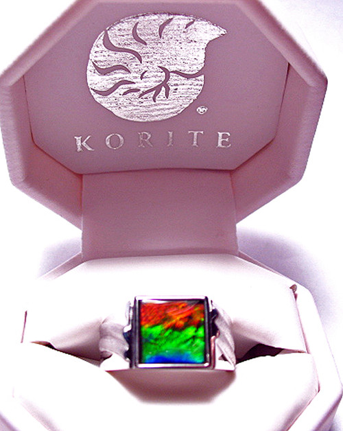 Korite Ammolite Square Men's Ring 5KSR
