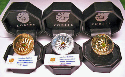 Korite Limited Edition Commemorative Ammolite Medallions 1KCAM