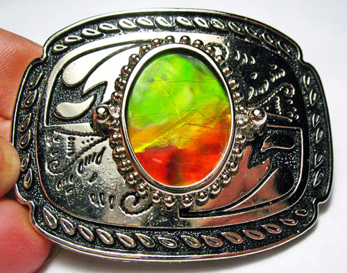 Ammolite Belt Buckle 3ABB