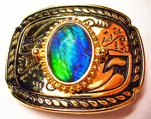Ammolite Belt Buckle 4ABB