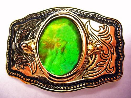 Ammolite Belt Buckle 6ABB