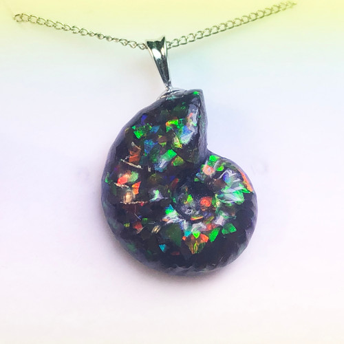 Ammolite Ammosaic™ Swirls Sterling Silver Pendant 102SP