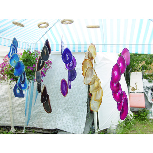Agate 7 slice wind chime