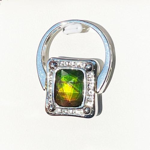 Korite Ammolite Pendant & Ring in One