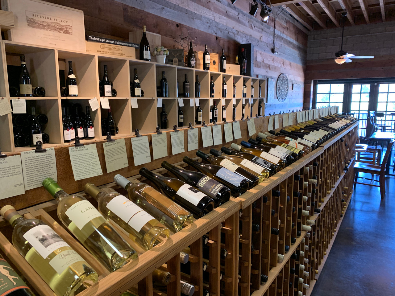hundreds of wines in stock