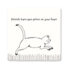 Square Porcelain Coaster - Running Cat