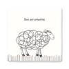 Square Porcelain Coaster - Ewe Are Amazing