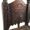 Vintage Tribal Chair From Pakistan With Leaf And Flower Carving
