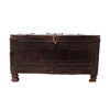 Travel Box with Flower Roundels Decoration From India