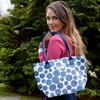 Blue Spot Oil Cloth Tote Bag
