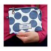 Blue Spot Oil Cloth Freya Purse