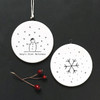 Flat porcelain bauble-Baby first Christmas
