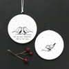 Flat porcelain bauble-Robins most wonderful time