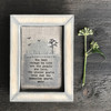 Embroidered box frame-Best things in life
