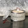 Mistletoe and Wine Tin berry Candle