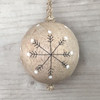 Snowflakes wooden bauble