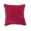 Velvet Pom Pom Cushion Mulberry