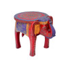 Painted Elephant Table Red & Purple
