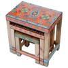 Nest of 3 Tables Floral Design