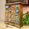 Hand Painted 16 drawer Spice Chest