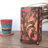 Small Cut-Work Metal Table Lamp Pink