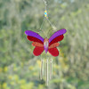 Pink Butterfly Wind Chime Sun Catcher