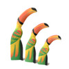 Set of 3 Wooden Toucans