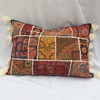 Black Patchwork Bohemian Embellished Cushion