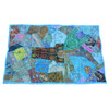 Turquoise Indian Patchwork Wall Hanging