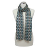 Squirrel Print Scarf - Charcoal