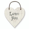 "Little Wooden Heart Tag ""Love You"""