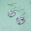 Heart & Bead Earrings