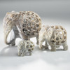 Hand Carved Soapstone Elephant Large