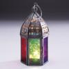 Mini Multi Colour Morrocan Glass Lantern