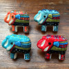 Set of 4 Hand Painted Elephant Door Knobs Mixed Colours