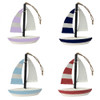 Set Of 4 Hand Painted Colourful Sailing Boats