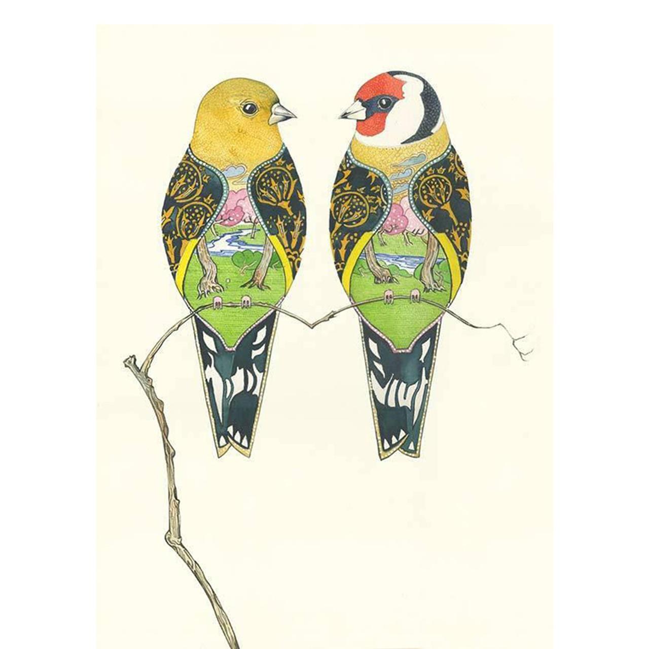 Any occasion card Blank inside Daniel Mackie Designer card Robin